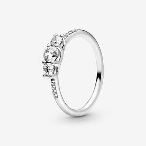 Pandora Clear Three-Stone Ring